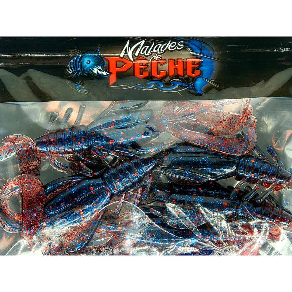 Leurre Big Cray Black blue and red glitter
