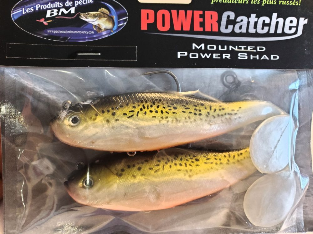Leurre PowerCatcher Mounted Power Shad Brown trout
