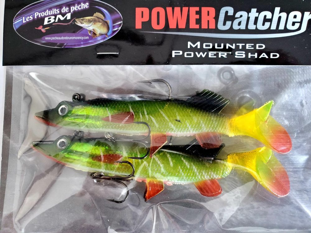 PowerCatcher Pike chartreuse dos noir 5.5pouces