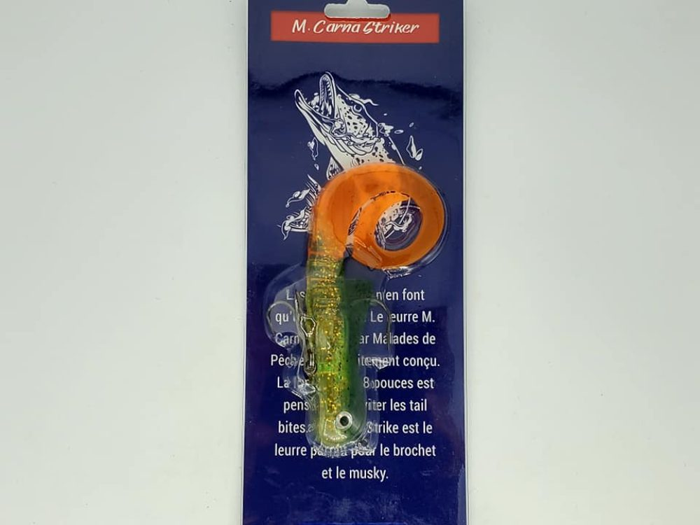 leurre musky striker vert & orange