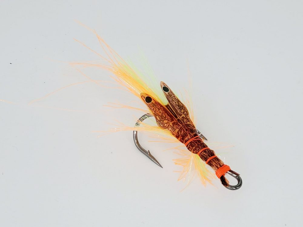 Leurre crevette Big Fat Mathy Glow Fire Tiger