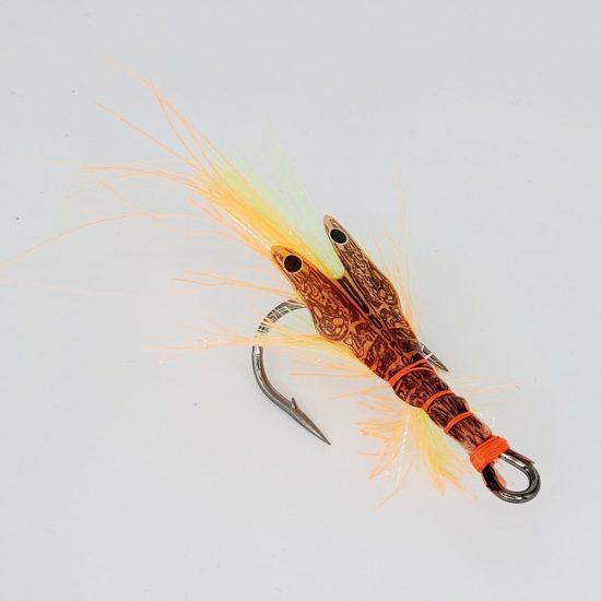 Leurre crevette Big Fat Mathy Glow Fire Tiger