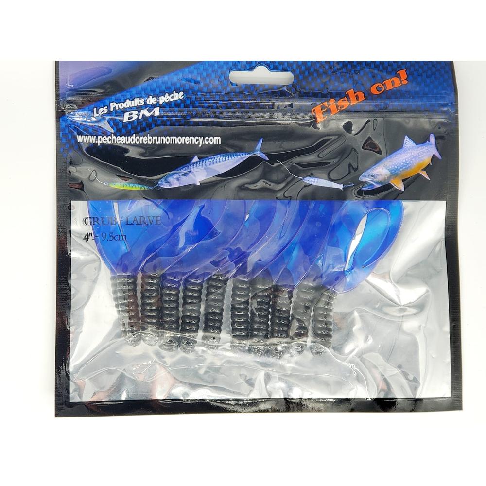 Grub Twin Tail noir et bleu