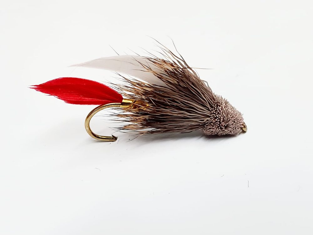 Mouche muddler minnow natural red & white tail