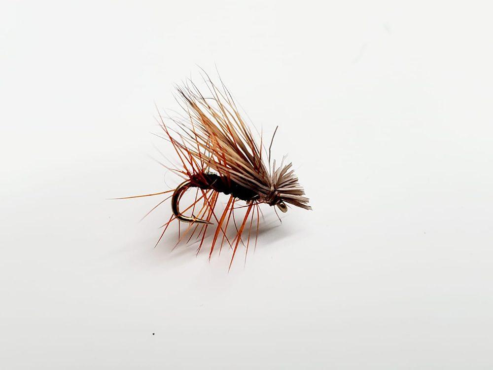 mouche elk hair caddis verte