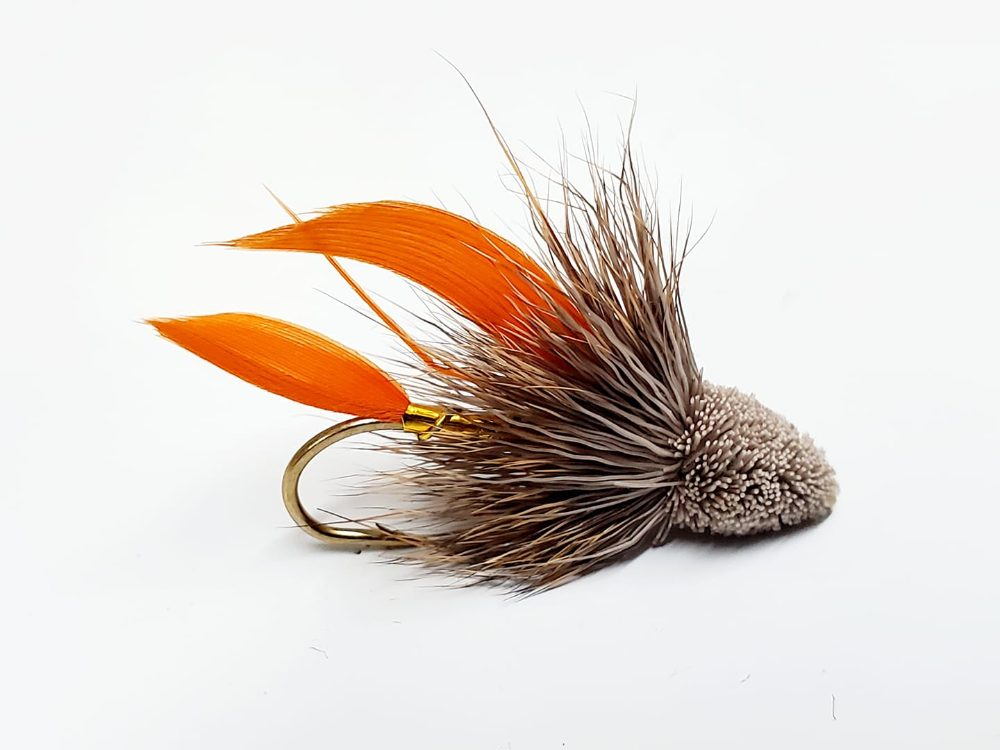 mouche muddler minnow orange tail