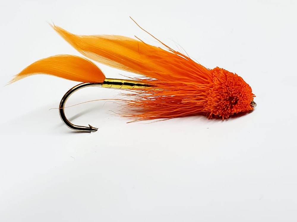 mouche muddler minnow orange