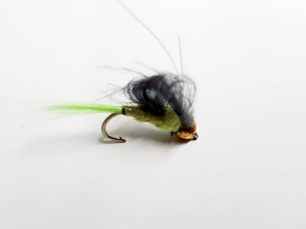 mouche bead head chartreuse