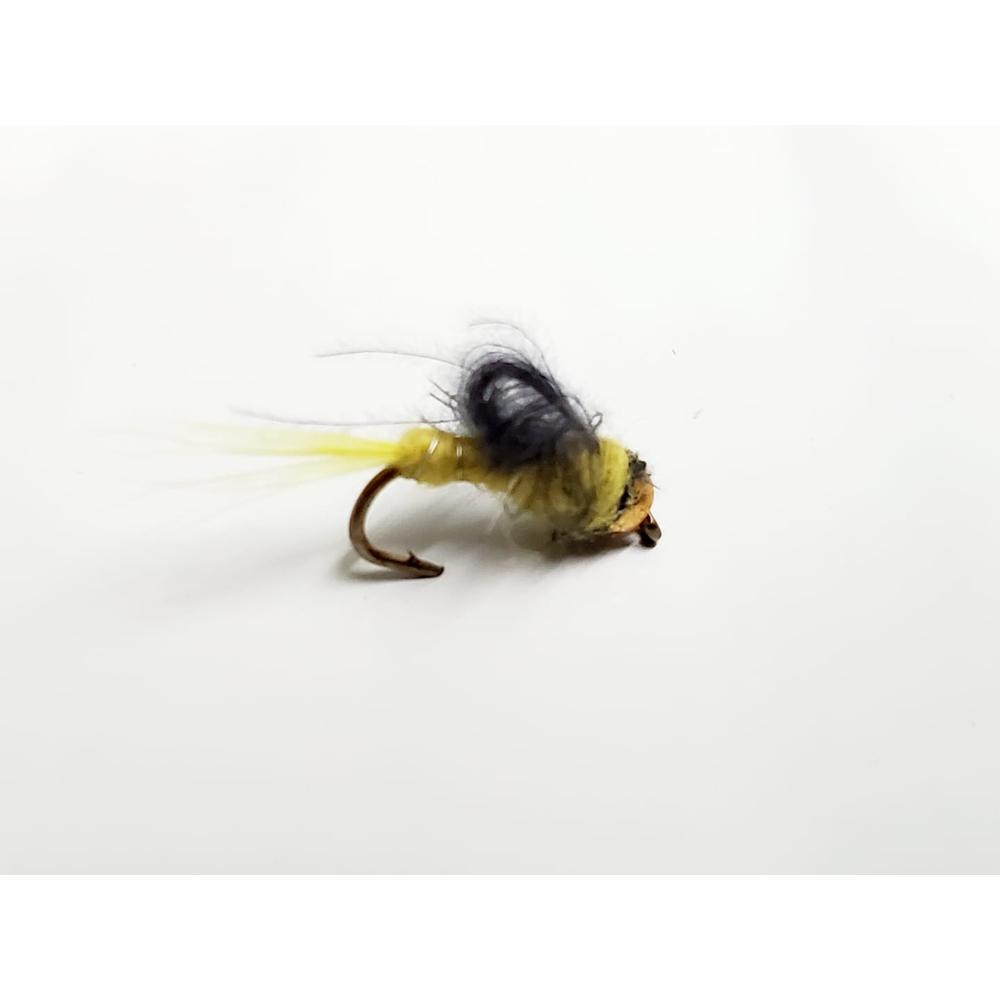 mouche bead head jaune